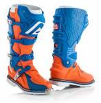 stivali  X-Move 2.0 colore blu/arancio fluo