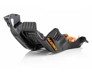sottomotore in plastica  colore nero/arancio