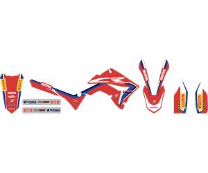 Kit adesivi grafica Replica Team HRC x kit Polisport