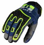 guanti  enduro colore blu/giallo
