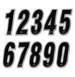 numeri adesivi  cromato 16x7,5 colore cromato
