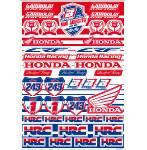 fogli adesivi fustellati  grafica Honda Gariboldi