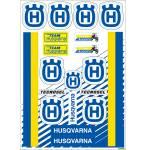 fogli adesivi fustellati  Vintage Epoca Husqvarna