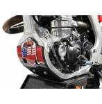 slitta sottomotore in plastica Racing 6mm  colore nero - Honda Crf r 250 2018-2020 - Honda Crf r 450 2017-2020