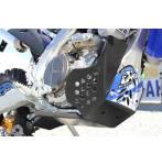 sottomotore in plastica Xtrem 8mm con protezione leverismi  colore nero - Yamaha Wrf 250 2015-2019 - Yamaha Wrf 450 2016-2018