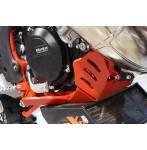 sottomotore in plastica Xtrem 8mm con protezione leverismi  colore rosso - Beta RR 250 2018-2019 - Beta RR 300 2018-2019