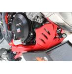 sottomotore in plastica Xtrem 8mm con protezione leverismi  colore rosso - Beta RR 250 2020 - Beta RR 300 2020