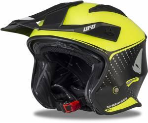 casco  Sheratan colore nero/giallo fluo