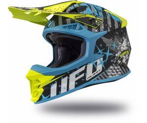 casco  Intrepid colore azzurro/giallo fluo