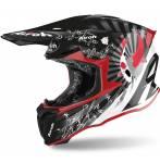 casco  Twist red gloss Katana colore rosso